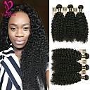 Χαμηλού Κόστους Δολώματα & Τεχνητά Δολώματα-6 πακέτα Βραζιλιάνικη Kinky Curly Φυσικά μαλλιά Υφάνσεις ανθρώπινα μαλλιών Υφάνσεις ανθρώπινα μαλλιών Επεκτάσεις ανθρώπινα μαλλιών / 8A / Kinky Σγουρό