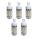 cheap iPhone Cases-5pcs 4.5 W 380 lm G9 36 LED Beads SMD 5050 LED Light Warm White 220-240 V