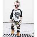 billiga Hundkläder-Pojkar Enkel Ledigt Dagligen Sport Tryck Färgblock Lappverk Monogram Modern Stil Lappverk Långärmad Normal Normal Bomull Klädesset Armégrön