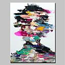 billige Abstrakte malerier-Hang malte oljemaleri Håndmalte - Mennesker Moderne Inkluder indre ramme / Stretched Canvas