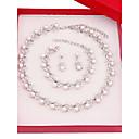 povoljno Komplet nakita-Žene Komplet nakita Svadbeni nakit Setovi Jednostavan Moda Imitacija bisera Glina Naušnice Jewelry Pink Za Vjenčanje Dnevno