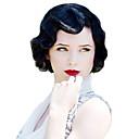 Χαμηλού Κόστους Συνθετικές περούκες χωρίς σκουφί-Συνθετικές Περούκες Κυματιστό Δάκτυλο κύματος Κυματομορφή Σώματος Κυματιστό Περούκα Κοντό Ash Μπράουν Χρυσαφένιο Καφέ Κατάμαυρο Συνθετικά μαλλιά Γυναικεία Vintage Wig Μαύρο Καφέ StrongBeauty