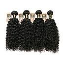 Χαμηλού Κόστους Περούκες από Ανθρώπινη Τρίχα-4 πακέτα Βραζιλιάνικη Kinky Curly Φυσικά μαλλιά Υφάνσεις ανθρώπινα μαλλιών Υφάνσεις ανθρώπινα μαλλιών Επεκτάσεις ανθρώπινα μαλλιών / 8A / Kinky Σγουρό