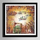 זול אומנות ממוסגרת-קאנבס ממוסגר סט ממוסגר - מופשט סרט מצויר פלסטיק איור וול ארט