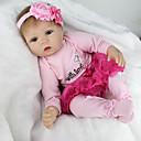 povoljno Autentične bebe-NPKCOLLECTION NPK DOLL Autentične bebe Djevojka lutka Za ženske bebe Ponovno rođena lutka za bebe 22 inch Silikon Vinil - vjeran Sladak Hand Made Sigurno za djecu Non Toxic Lijep Dječjom Djevojčice