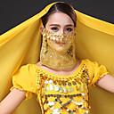 ราคาถูก เครื่องประดับประกอบการเต้นรำ-ชุดเต้นระบำหน้าท้อง Ordinary สำหรับผู้หญิง การฝึกอบรม Tulle ปักเลื่อม ผ้าคลุมหน้า