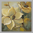 baratos Pinturas Florais/Botânicas-Pintura a Óleo Pintados à mão - Floral / Botânico Modern Incluir moldura interna / Lona esticada