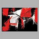 billige Abstrakte malerier-Hang malte oljemaleri Håndmalte - Abstrakt Moderne Uten Indre Ramme / Valset lerret
