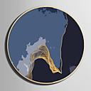 זול אומנות ממוסגרת-קאנבס ממוסגר סט ממוסגר - מופשט L ו-scape פלסטיק איור וול ארט
