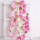 baratos Flores Artificiais & Vasos-Flores artificiais 1 Ramo Casamento Europeu Sakura Guirlandas & Flor de Parede