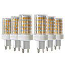 baratos Lâmpadas LED em Forma de Espiga-Ywxlight® 6 pcs 10 w 900-1000lm g9 levou luzes bi-pino 86led 2835smd de alta qualidade cerâmica dimmable levou lâmpada ac 220-240v