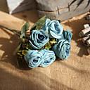 billige Kunstige blomster & Vaser-Kunstige blomster 1 Gren Rustikk Bryllup Roser Bordblomst