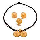 Χαμηλού Κόστους Σετ Κοσμημάτων-Γυναικεία Σετ Κοσμημάτων Μοντέρνο κυρίες Μοντέρνα Επιχρυσωμένο Σκουλαρίκια Κοσμήματα Χρυσό Για Γάμου Πάρτι