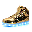 Χαμηλού Κόστους Γυναικεία παπούτσια γάμου-Αγορίστικα / Κοριτσίστικα LED / Φωτιζόμενα παπούτσια Λουστρίν Αθλητικά Παπούτσια Νήπιο (9m-4ys) / Τα μικρά παιδιά (4-7ys) / Μεγάλα παιδιά (7 ετών +) Τρέξιμο / Περπάτημα LED Χρυσό / Ασημί Καλοκαίρι