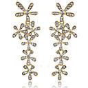 povoljno Modne naušnice-Žene Viseće naušnice Pahulja dame Moda Imitacija dijamanta Naušnice Jewelry Zlato / Pink Za Party Izlasci