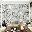 billiga Mural-3d stora löv illustration anpassad stor väggmålning väggmålning tapet passande sovrum sovrum tv bakgrund