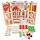 Χαμηλού Κόστους Παιχνίδια εργαλεία-Παιχνίδια ρόλων Παιχνίδια εργαλεία Εκπαιδευτικό παιχνίδι Αγορίστικα Κοριτσίστικα Πανέμορφος Παιδικά Wooden Child Carpenter Construction Tool Box