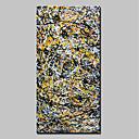 Χαμηλού Κόστους Αφηρημένοι Πίνακες-Hang-ζωγραφισμένα ελαιογραφία Ζωγραφισμένα στο χέρι - Αφηρημένο Ποπ Άρτ Μοντέρνα Περιλαμβάνει εσωτερικό πλαίσιο / Επενδυμένο καμβά