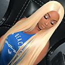 billige Blondeparykker med menneskehår-Remy Menneskehår Halvblonder uten lim Blonde Forside Parykk Kardashian stil Brasiliansk hår Rett Parykk 150% Hair Tetthet med baby hår Naturlig hårlinje 100% Jomfru Dame Kort Blondeparykker med