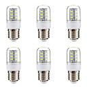 Χαμηλού Κόστους Λάμπες Σφαίρα LED-BRELONG® 6pcs 3 W 270 lm E14 E26/E27 LED Λάμπες Καλαμπόκι 24 leds SMD 5730 Θερμό Λευκό Άσπρο 220V-240V