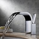 Χαμηλού Κόστους Αφηρημένοι Πίνακες-Μπάνιο βρύση νεροχύτη - Καταρράκτης / Εκτεταμένο Χρώμιο Montaj Punte Ενιαία Χειριστείτε μια τρύπαBath Taps