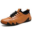 Χαμηλού Κόστους Αντρικά Oxford-Ανδρικά Παπούτσια άνεσης Νάπα Leather Καλοκαίρι Αθλητικό Oxfords Πεζοπορία / Περπάτημα Αναπνέει Μαύρο / Κίτρινο / Σκούρο καφέ