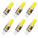 Χαμηλού Κόστους LED Bi-pin Λαμπτήρες-παράσταση 6 τεμ. g4 3w 1μετ. φωτεινό καλαμπόκι φως ac12v λευκό / ζεστό λευκό