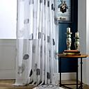 baratos Cortinas Transparentes-Sheer Curtains Shades Sala de Estar Plantas / Contemporâneo Algodão / Poliéster Estampado