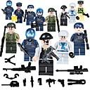 ราคาถูก บล็อกอาคาร-Building Blocks บล็อกทางทหาร ของเล่นชุดก่อสร้าง 19 pcs ผู้คน ทหาร ที่เข้ากันได้ Legoing โรงเรียน ความเครียดและความวิตกกังวลบรรเทา ปฏิสัมพันธ์ระหว่างพ่อแม่และลูก คลาสสิก ภาพคน / ของเล่นการศึกษา