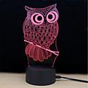 זול אורות 3D הלילה-1set 3D לילה לגעת 7 צבעים dc מופעל מתח וחרדה הקלה עם יציאת USB צבע שינוי