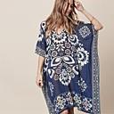 baratos Sandálias Femininas-Mulheres Boho Azul Cobertura Roupa de Banho - Floral Estampado Tamanho Único Azul