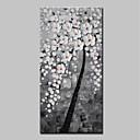 Χαμηλού Κόστους Αφηρημένοι Πίνακες-Hang-ζωγραφισμένα ελαιογραφία Ζωγραφισμένα στο χέρι - Αφηρημένο Άνθινο / Βοτανικό Μοντέρνα Περιλαμβάνει εσωτερικό πλαίσιο / Επενδυμένο καμβά