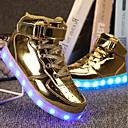 ราคาถูก วิกผมลูกไม้สังเคราะห์ระดับพรีเมียม-เด็กผู้ชาย ความสะดวกสบาย / Light Up รองเท้า PU รองเท้าผ้าใบ เด็กน้อย (4-7ys) / Big Kids (7 ปี +) วสำหรับเดิน ลูกไม้ขึ้น / ตะขอและห่วง / LED สีเงิน / ฟ้า / Dusty Rose ฤดูใบไม้ผลิ / EU36