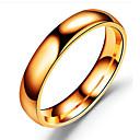 billige Herreringer-Herre Band Ring Svart Sølv Rose Gull Rustfritt Stål Titanium Stål Metall Sirkelformet Klassisk Bryllup Bursdag Smykker