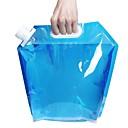 ราคาถูก อุปกรณ์ทำครัวในการตั้งแคมป์-Camping Collapsible Bucket 5 L 2 ชุด Lightweight เดินทาง BPA Free สำหรับ พลาสติก กลางแจ้ง แคมป์ปิ้ง ฟ้า โปร่งแสง