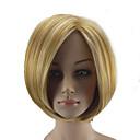 billiga Verktyg och tillbehör-Syntetiska peruker Rak Rak Bob-frisyr Peruk Blond Korta Blond Syntetiskt hår Dam Hår med highlights / balayage Blond hairjoy