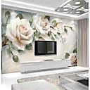 Χαμηλού Κόστους Τοιχογραφία-ανοιχτό ροζ τριαντάφυλλο έθιμο 3d μεγάλο τοίχο που καλύπτει τοίχο ταπετσαρία ταιριάζει εστιατόριο λουλ