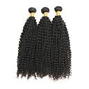 Χαμηλού Κόστους Περούκες από Ανθρώπινη Τρίχα-3 δεσμίδες Βραζιλιάνικη Kinky Curly Remy Τρίχα Υφάνσεις ανθρώπινα μαλλιών Υφάνσεις ανθρώπινα μαλλιών Επεκτάσεις ανθρώπινα μαλλιών / 10A / Kinky Σγουρό
