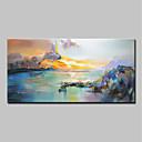 baratos Pinturas Paisagens-Pintura a Óleo Pintados à mão - Abstrato Paisagem Modern Incluir moldura interna / Lona esticada