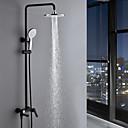 Χαμηλού Κόστους Παιχνίδια που Διώχνουν το Στρες-Βρύση Ντουζιέρας - Σύγχρονο Βαμμένα τελειώματα Σύστημα Ντουζ Κεραμική Βαλβίδα Bath Shower Mixer Taps / Ορείχαλκος / Ενιαία Χειριστείτε δύο τρύπες