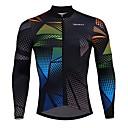 ราคาถูก เสื้อปั่นจักรยาน-SPAKCT สำหรับผู้ชาย แขนยาว Cycling Jersey สีดำ สลับ จักรยาน เสื้อยืด Moisture Wicking แห้งเร็ว กีฬา Elastane polyster ขี่จักรยานปีนเขา Road Cycling เสื้อผ้าถัก / ขั้นสูง / อย่างเชี่ยวชาญ / ขั้นสูง