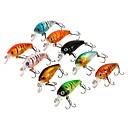 ราคาถูก แหวน-9 pcs ที่ลวงตาในเบ็ด Minnow อุปกรณ์ลอยน้ำ Bass ปลาเทราท์ หอก ตกปลาทะเล Fly Fishing เบทคาสติ้ง / ตกปลาบนธารน้ำแข็ง / Spinning / การตกปลาแบบ Jigging / ปลาน้ำจืด / การตกปลาคารฺ์พ