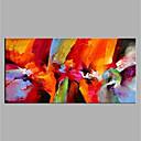 Χαμηλού Κόστους Αφηρημένοι Πίνακες-Hang-ζωγραφισμένα ελαιογραφία Ζωγραφισμένα στο χέρι - Αφηρημένο Μοντέρνα Χωρίς Εσωτερικό Πλαίσιο / Κυλινδρικός καμβάς