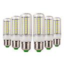 baratos Lâmpadas LED em Forma de Espiga-6pcs 7 W Lâmpadas Espiga 600-700 lm E14 E26 / E27 72 Contas LED SMD 5730 Decorativa Branco Quente Branco Frio 220-240 V