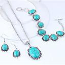 povoljno Komplet nakita-Žene Komplet nakita Geometrijski dame Vintage Europska Moda Smola Naušnice Jewelry Tirkiz Za Kauzalni