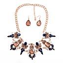 povoljno Modne naušnice-Žene Sintetički Sapphire Viseće naušnice Ogrlice-kragna Statement dame Klasik Moda Naušnice Jewelry Dark Blue / Crvena Za Party Večer stranka