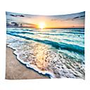 billige Wall Tapestries-Strand Tema Pirater Veggdekor 100% Polyester Moderne Veggkunst, Veggtepper Dekorasjon