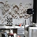 billiga Mural-Blommig Konst Dekor 3D Hem-dekoration Klassisk Moderna Tapetsering, Duk Material lim behövs Väggmålning, Tapet