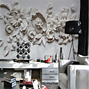 povoljno Mural-Cvjetni print Art Deco 3D Početna Dekoracija Klasik Moderna Zidnih obloga, Platno Materijal Ljepila potrebna Mural, Soba dekoracija ili