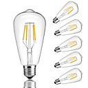 billiga Cirkeldesign-6pcs 4 W LED-glödlampor 360 lm E26 / E27 ST64 4 LED-pärlor COB Dekorativ Varmvit Kallvit 220-240 V / RoHs